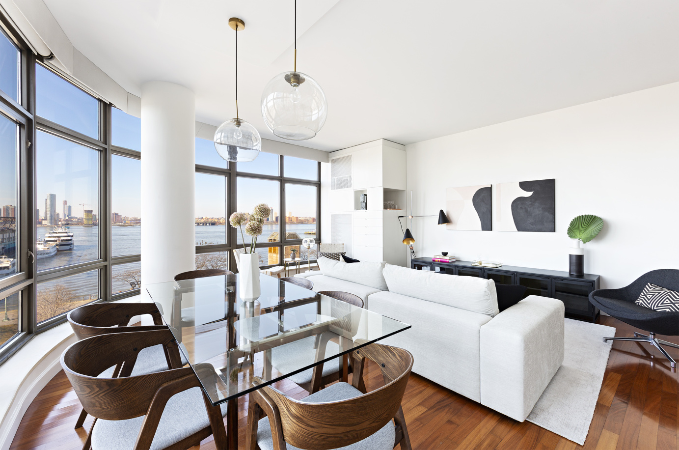 West Village SunsetsSavor direct Western views of the Hudson River and park from the living room of this elegant, oversized condo designed by Andres Escobar.  Each of the bedrooms faces south and also enjoys full water views.  Newly renovated and in mint condition, this condo is an outstanding value.  At $2,210/foot, the asking price is nearly $300/foot less than the building's average asking price, even though 5CW faces the river!Relax and enjoy the river views as you cook in your windowed gourmet kitchen with exquisite finishes and luxury brand appliances.  The two-and-a-half marble baths have custom vanities and Watermark fixtures.  The apartment features soaring ceilings, professionally outfitted closets and elegant built-ins within every room.1 Morton Square is a full-service, white glove building featuring 24-hour doorman and concierge, live-in superintendent, private gated entrance, 3,000' state-of-the-art gym, children's play room, bike room, storage room, laundry room, valet, landscaped courtyard and parking garage.